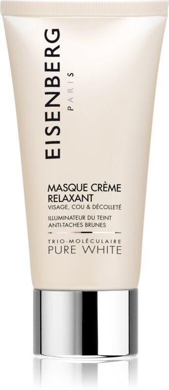 Eisenberg Pure White maseczka nawilżająca i rozświetlająca przeciw przebarwieniom skóry