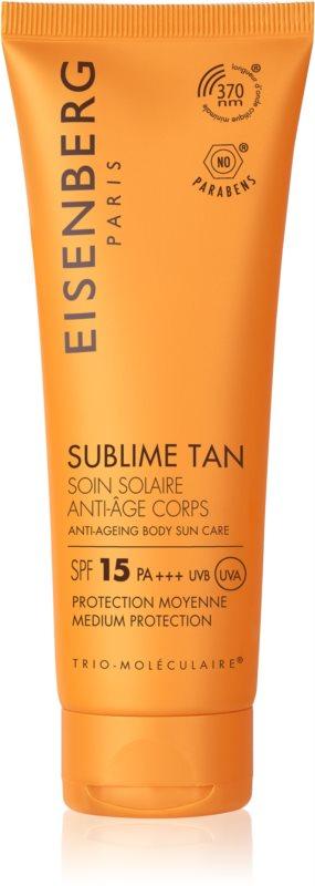 Eisenberg Sublime Tan crème solaire corps anti-rides SPF 15