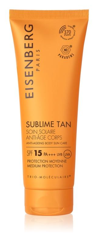 Eisenberg Sublime Tan krema za sončenje za telo proti gubam SPF 15