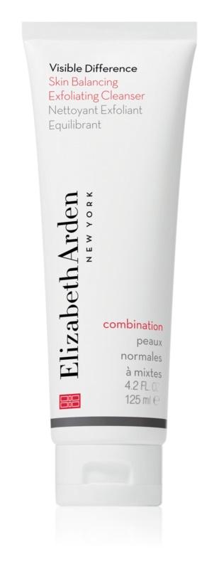 Elizabeth Arden Visible Difference Skin Balancing Exfoliating Cleanser Schuim Peeling  voor Normale tot Gemengde Huid