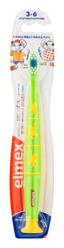 Elmex Kids 3-6 Years zubná kefka s prísavkou pre deti