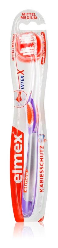 Elmex Caries Protection zubná kefka s krátkou hlavou medium