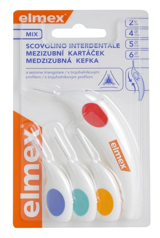 Elmex Caries Protection escovas interdentais triangular 4 pcs mix