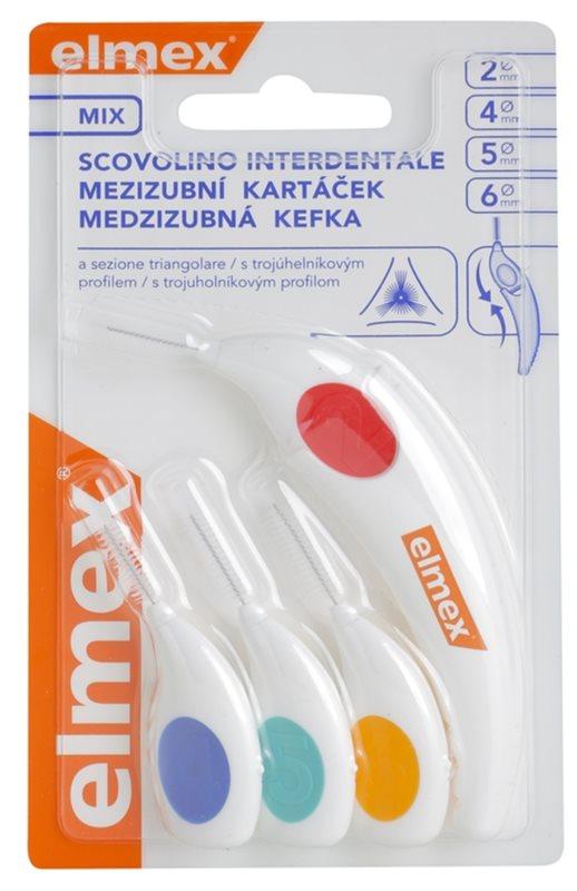 Elmex Caries Protection szczoteczki międzyzębowe o trójkątnym włosiu 4 szt. mix