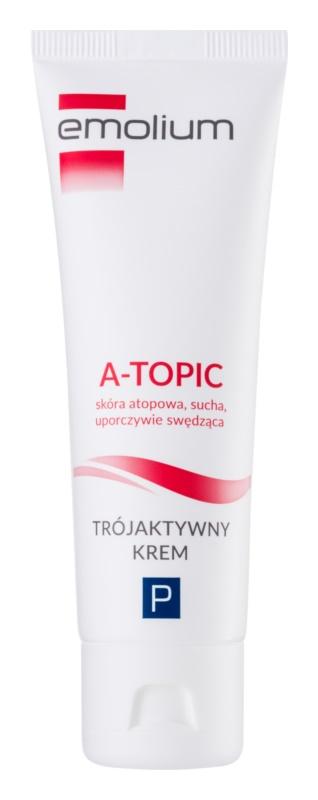 Emolium Skin Care A-topic crème met drieledige werking voor Droge tot Atopie Huid