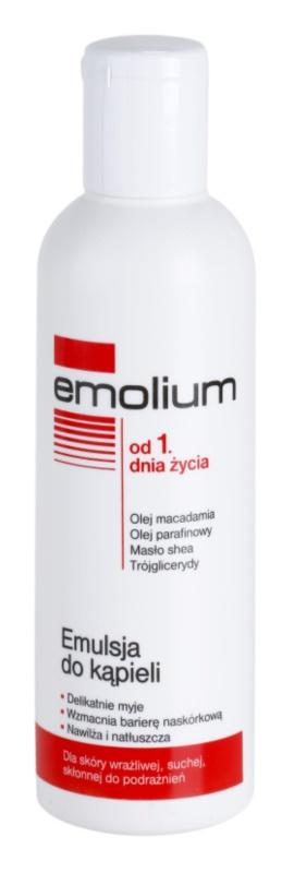 Emolium Wash & Bath emulsão para banho para peles secas e sensíveis
