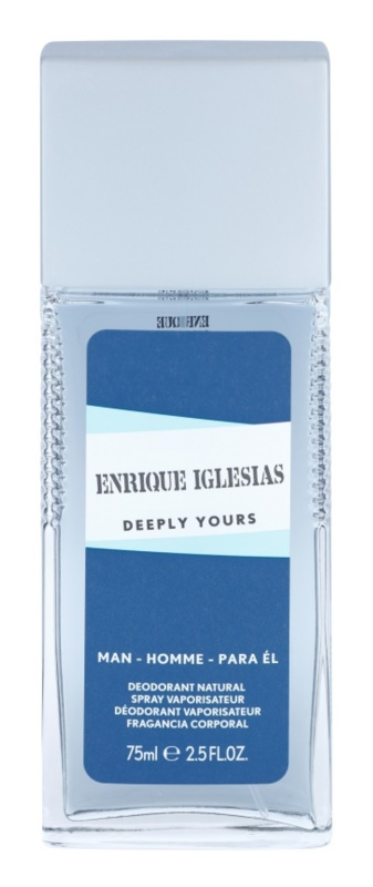 Enrique Iglesias Deeply Yours deodorant s rozprašovačom pre mužov 75 ml