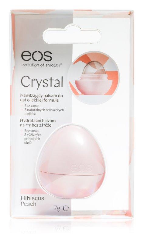 EOS Crystal Hibiscus Peach hydratační balzám na rty