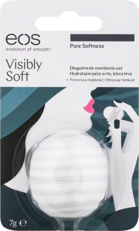 EOS Visibly Soft Pure Softness vlažilni balzam za ustnice