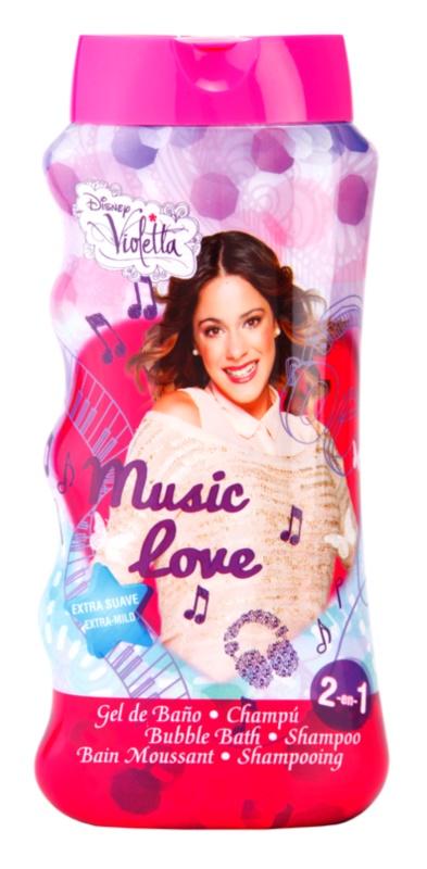 EP Line Disney Violetta espuma de baño y gel de ducha 2 en 1