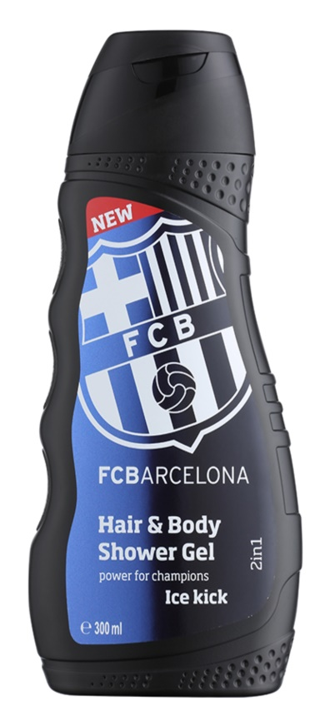 EP Line FC Barcelona Ice Kick champú y gel de ducha 2 en 1