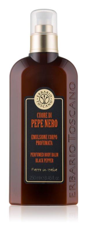 Erbario Toscano Black Pepper parfemovaný balzám na tělo pro muže