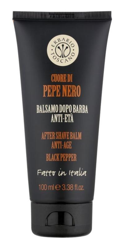 Erbario Toscano Black Pepper balzám po holení pre mužov 100 ml