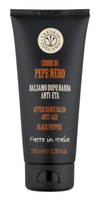 Erbario Toscano Black Pepper balzám po holení pro muže 100 ml