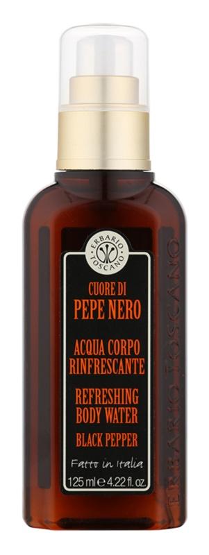 Erbario Toscano Black Pepper telový sprej pre mužov 125 ml