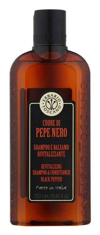 Erbario Toscano Black Pepper champú y acondicionador 2 en 1 para hombre