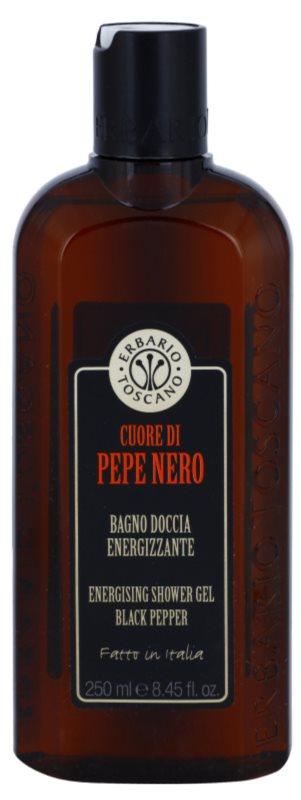 Erbario Toscano Black Pepper energizáló tusfürdő gél