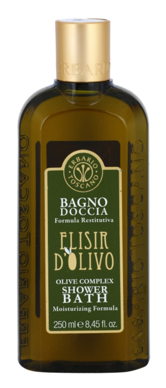 Erbario Toscano Elisir D'Olivo гель для душа та ванни зі зволожуючим ефектом