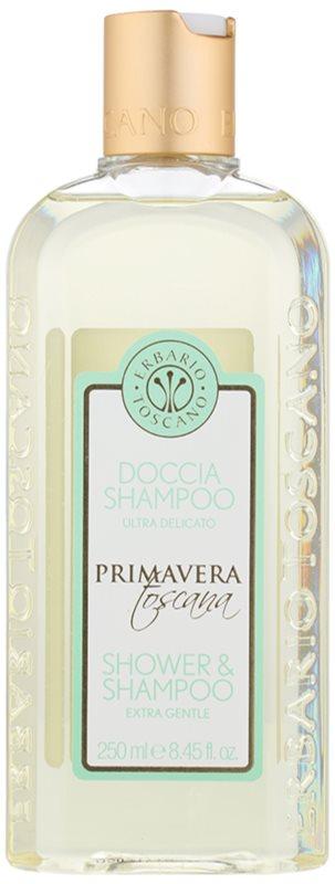 Erbario Toscano Primavera Toscana extra jemný sprchový gel a šampon 2v1