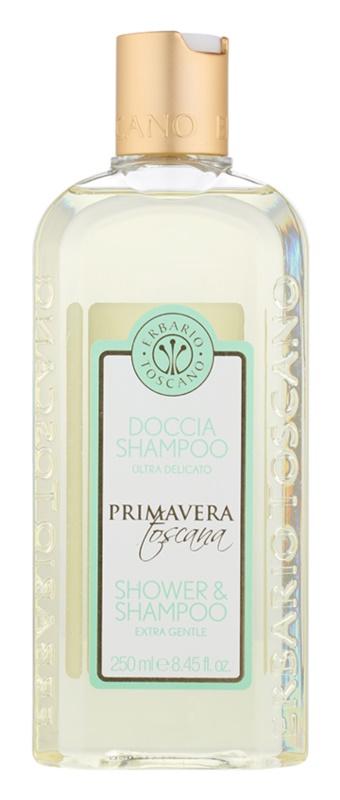 Erbario Toscano Primavera Toscana extrasanftes Duschgel und Shampoo 2 in 1