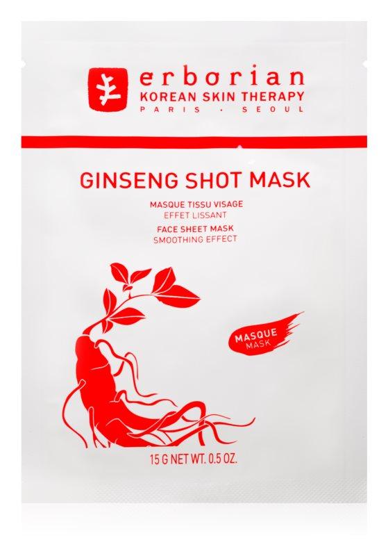 Erborian Ginseng Shot Mask maska iz platna z gladilnim učinkom