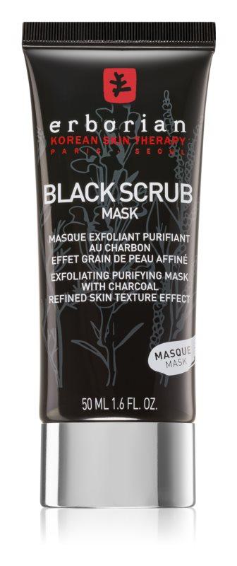 Erborian Black Scrub Mask eksfoliacijska čistilna maska za obraz