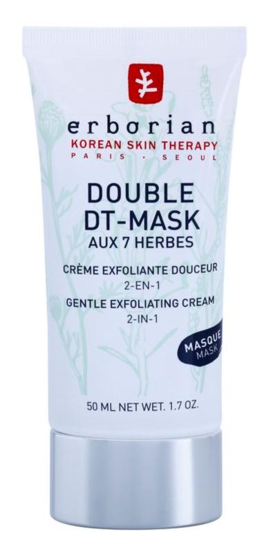 Erborian Detox Double DT-Mask 7 Herbs crème exfoliante douce 2 en 1
