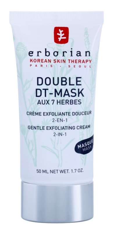 Erborian Detox Double DT-Mask 7 Herbs Gentle Cream Exfoliator 2 In 1
