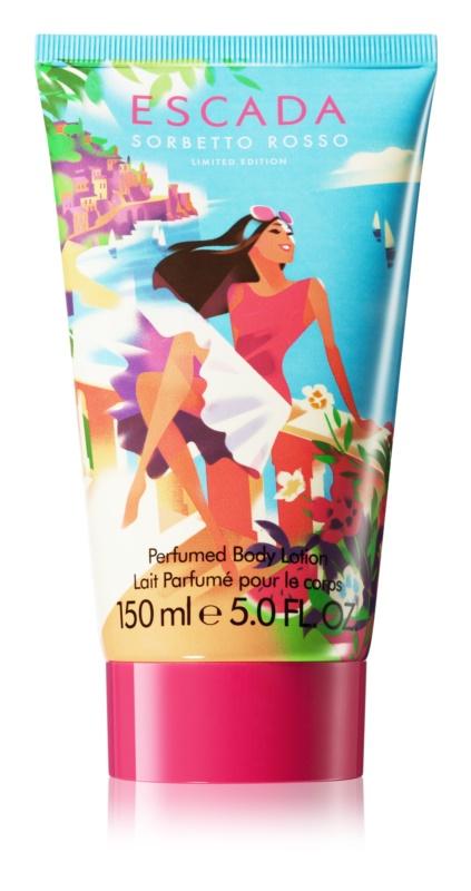 Escada Sorbetto Rosso telové mlieko pre ženy 150 ml