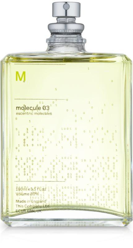 Escentric Molecules Molecule 03 Eau de Toilette unissexo 100 ml