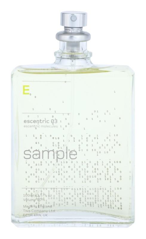 Escentric Molecules Escentric 03 eau de toilette teszter unisex 100 ml
