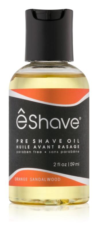 eShave Orange Sandalwood olje pred britjem