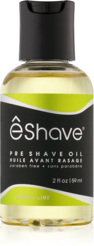 eShave Verbena Lime olje pred britjem