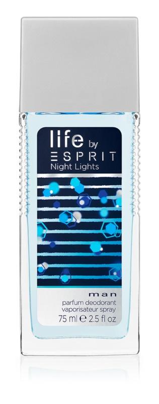 Esprit Life by Esprit Night Lights Man deodorant s rozprašovačom pre mužov 75 ml