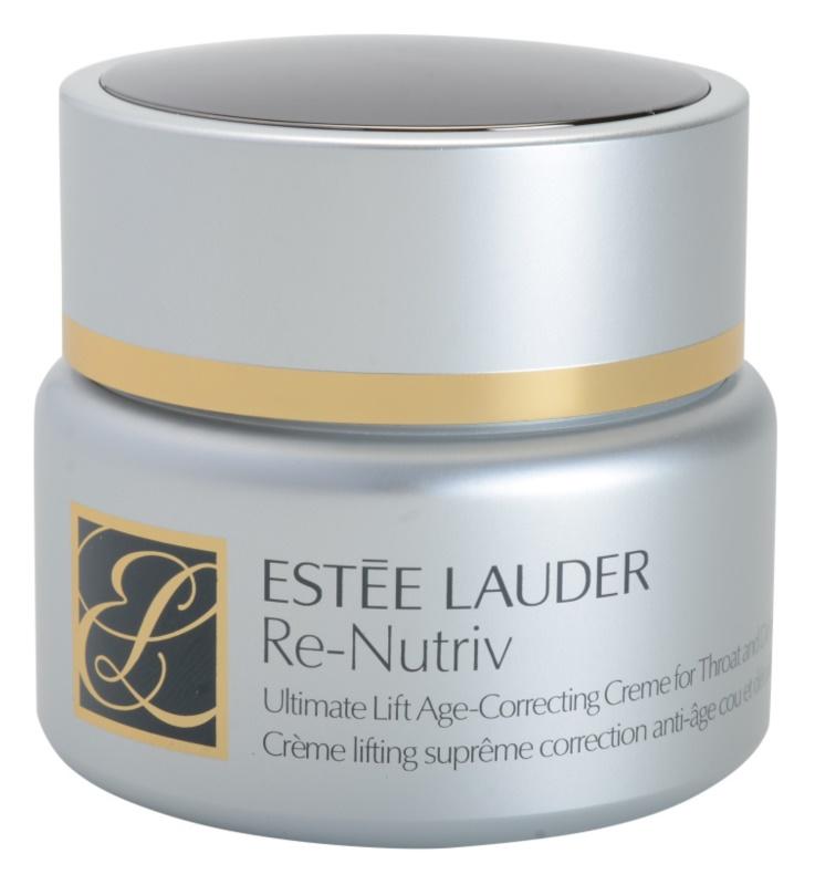 Estée Lauder Re-Nutriv Ultimate Lift crema cu efect de lifting pentru gat si decolteu