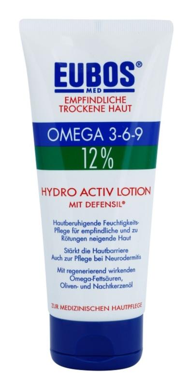 Eubos Sensitive Dry Skin Omega 3-6-9 12% bálsamo corporal de proteção com efeito nutritivo de longa duração