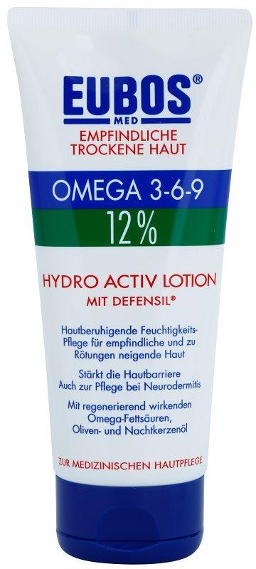 Eubos Sensitive Dry Skin Omega 3-6-9 12% tělový balzám pro posílení ochranné bariéry s dlouhotrvajícím hydratačním účinkem