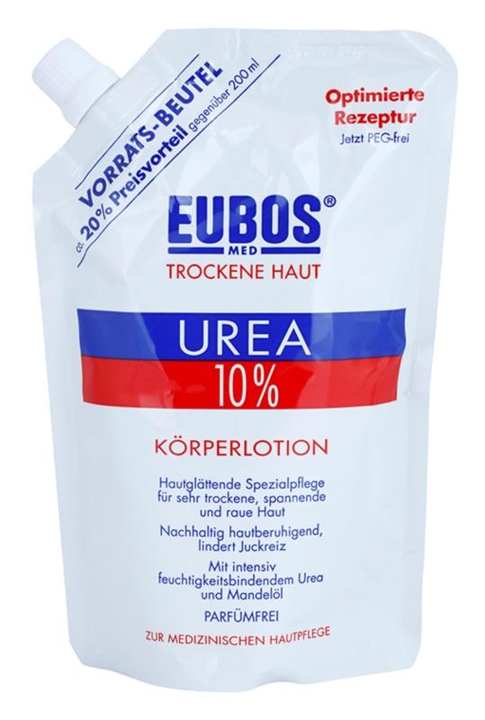 Eubos Dry Skin Urea 10% hydratačné telové mlieko pre suchú a svrbiacu pokožku náhradná náplň