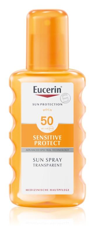 Eucerin Sun Sensitive Protect ochranný sprej na opalování SPF 50