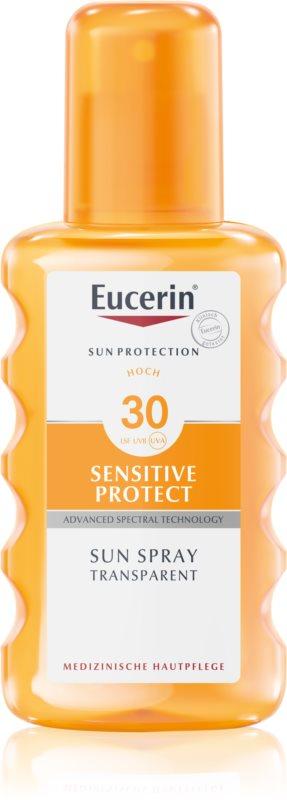 Eucerin Sun Sensitive Protect transparentný sprej na opaľovanie SPF 30