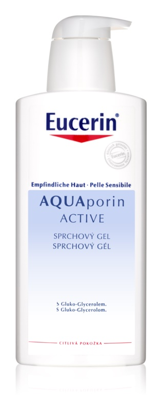 Eucerin Aquaporin Active tusfürdő gél az érzékeny bőrre