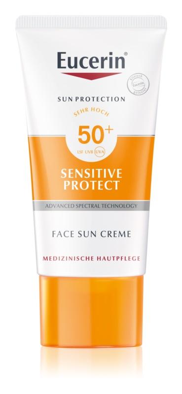 Eucerin Sun Sensitive Protect захисний крем для обличчя SPF 50+