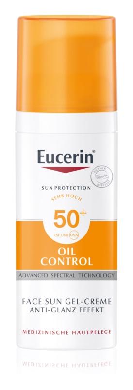 Eucerin Sun Oil Control crema-gel cu efect de protectie a fetei SPF 50+