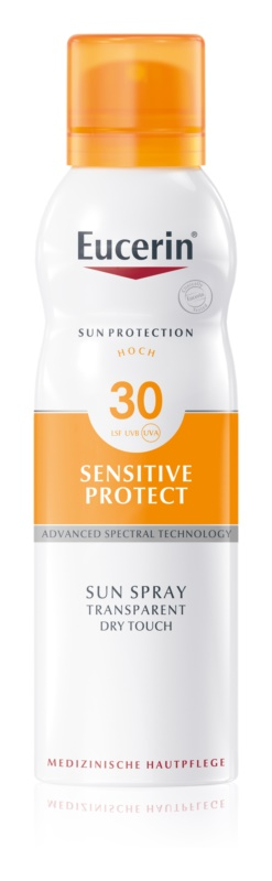 Eucerin Sun Sensitive Protect прозора емульсія для засмаги SPF 30