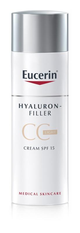 Eucerin Hyaluron-Filler creme CC contra as rugas profundas SPF 15