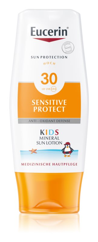 Eucerin Sun Kids zaščitno mleko za telo za otroke z mikropigmenti SPF 30