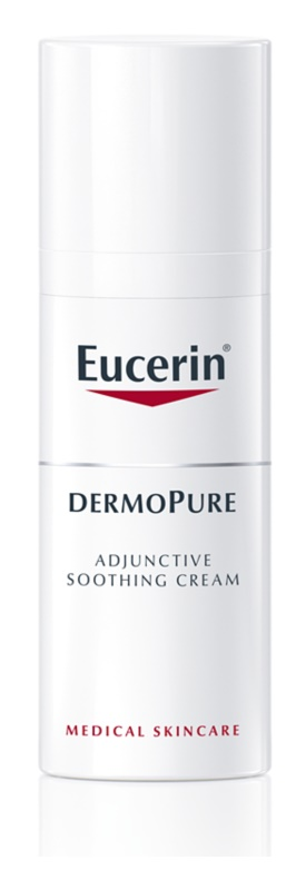 Eucerin DermoPure upokojujúci krém pri dermatologickej liečbe akné