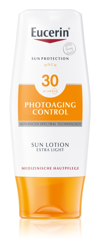 Eucerin Sun Photoaging Control екстра легке молочко для засмаги SPF 30