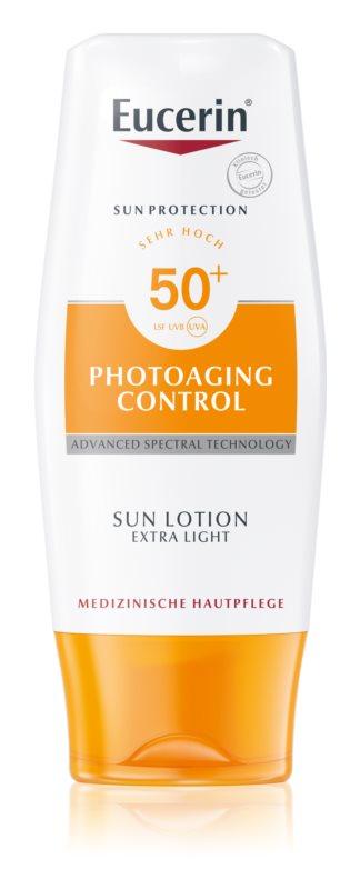 Eucerin Sun Photoaging Control екстра легке молочко для засмаги SPF 50+