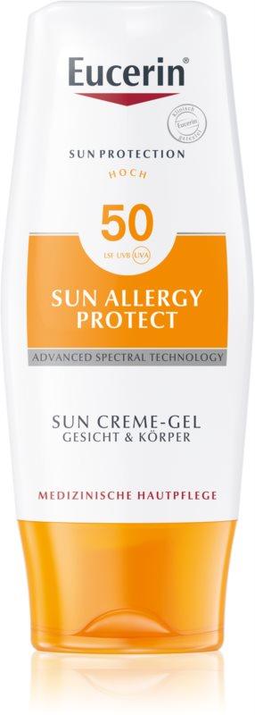 Eucerin Sun Allergy Protect Lotiune protectie gel crema impotriva alergie la soare SPF 50
